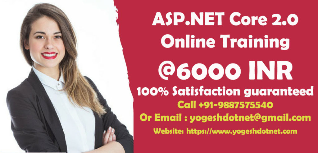 ASP.NET Core 2.0 Online Training