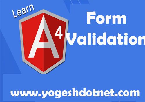 simple example of angular 4 validations
