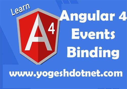 angular 4 event binding
