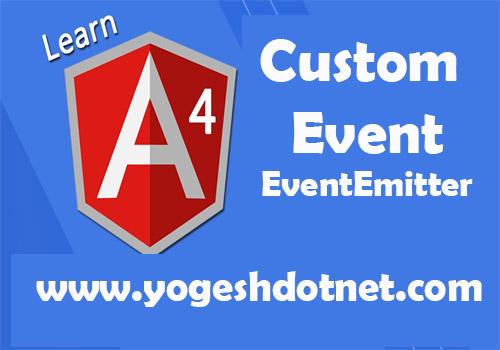 Angular 4 custom event | event emiiter service