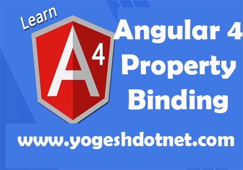One Way property Data Binding in Angular 4