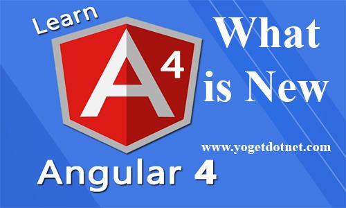 what's new in angular 4