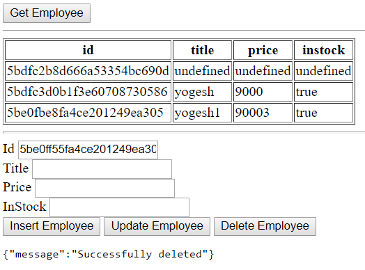 Learn node js mongo db java