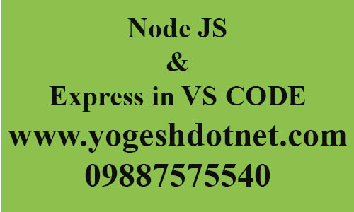 Node and express setup in visual studio code