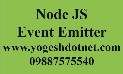 event emitters node js | example