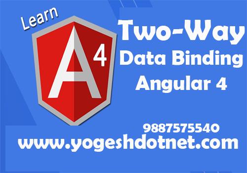 angular 4 two way binding