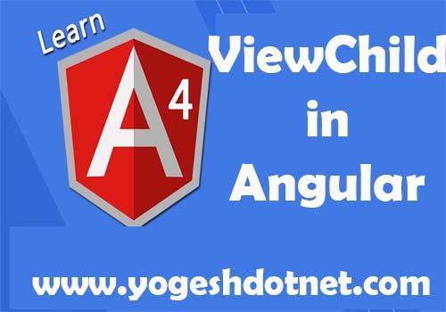 angular 4 viewchild example