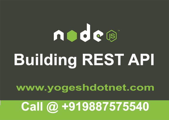 building rest api with node.js and express