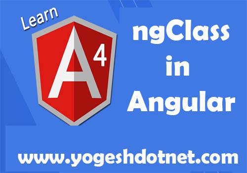 ngClass example in angular 5