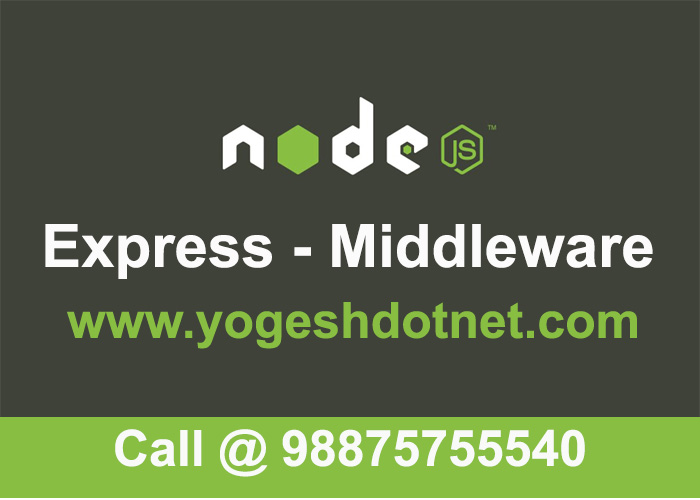 Express JS middleware with example