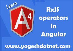 rxJS operator in angular