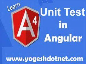 unit testing in angular